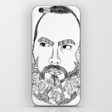 beard's pink flowers iPhone & iPod Skin