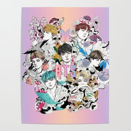 BTS Members -Love Yourself Poster