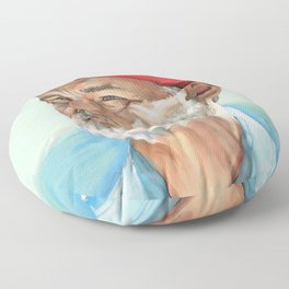 Steve Zissou Bill Murray Painted Portrait Floor Pillow