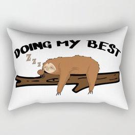 Sloth Chilling Sleeping Work Office Lazy Rectangular Pillow