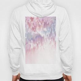 Falling Shades of purple and pink Glitch pattern Hoody