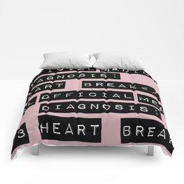 HEART</3BREAK pink Comforters