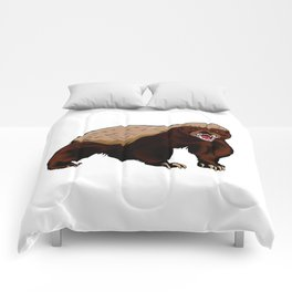 Honey badger illustration Comforters