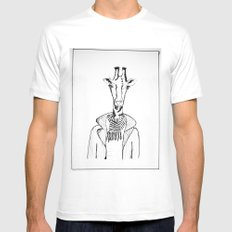 High Society MEDIUM White Mens Fitted Tee