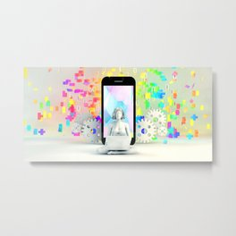 Creativity Concept and Creative Mind with Inspiration on Mobile Metal Print