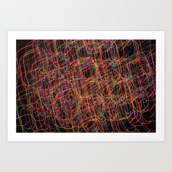 Color Swirl Art Print