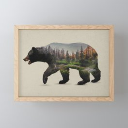 The North American Black Bear Framed Mini Art Print
