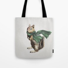 Winter Chipmunk Tote Bag
