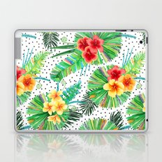Tropical Watercolor Hibiscus & Plumeria Laptop & iPad Skin
