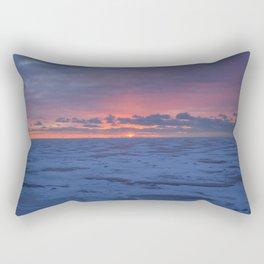 Winter Sunrise at Luna Pier Rectangular Pillow