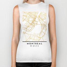 MONTREAL CANADA CITY STREET MAP ART Biker Tank