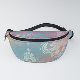Colorful Spray Painted Patterns Fanny Pack