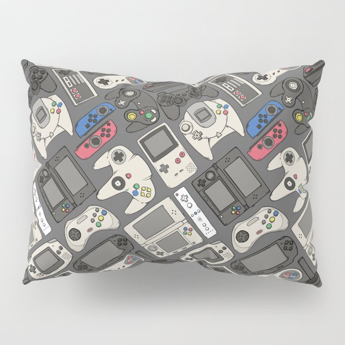 Video Game Controllers in True Colors Pillow Sham