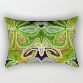 Green Lotus Large Rectangular Pillow