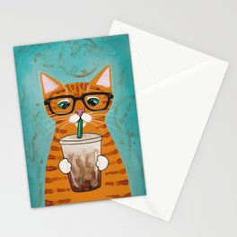 Iced Coffee Cat Stationery Cards