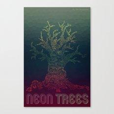 Trees of Neon Canvas Print