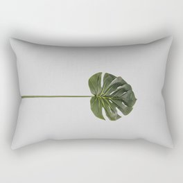 Single monstera tropical leave Rectangular Pillow