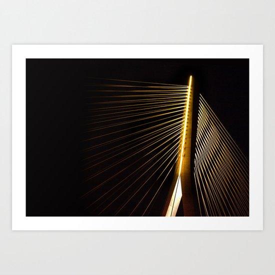 New Bridge at night Art Print
