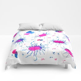 Virus Kiss with Hangul Alphabets Comforters