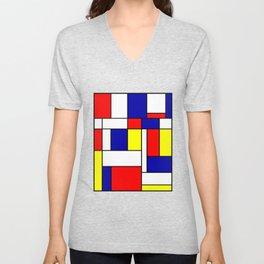Mondrian #38 Unisex V-Neck