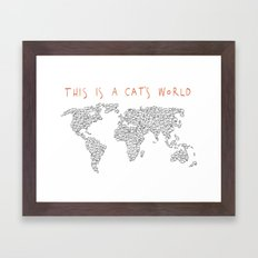 This is a Cat's World Framed Art Print