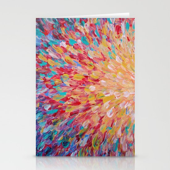 SPLASH - WOW Dash of Cheerful Color, Bold Water Waves Theme, Nature Lovers Modern Abstract Decor Stationery Cards