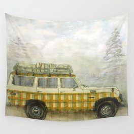 Plaid Land Cruiser Wall Tapestry