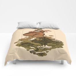 Nereid Green and Red Comforters