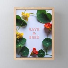 Save the Bees Framed Mini Art Print