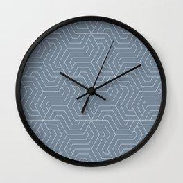 Light slate gray - grey - Modern Vector Seamless Pattern Wall Clock