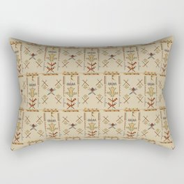 Sikiti Samburu tribal motifs Rectangular Pillow