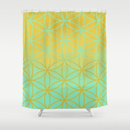 Meditation space Shower Curtain