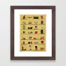 archimusic city Framed Art Print