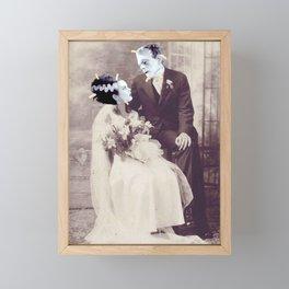 Always tape your wedding photos Framed Mini Art Print