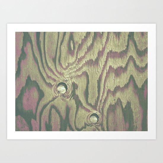 Painted Wood #2 Art Print