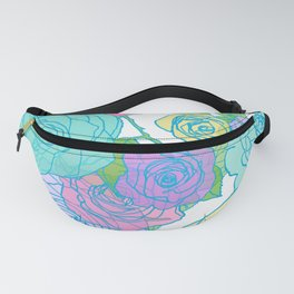 Pop Roses in Bright Preppy Colors Fanny Pack