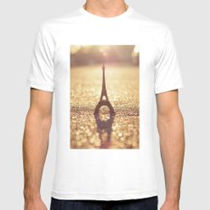 Paris, City of Light Mens Fitted Tee White MEDIUM