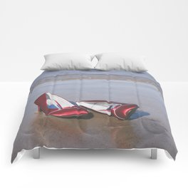 Red High-Heeled Shoes Comforters