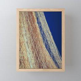 Nylon fishnet on the clear sky Framed Mini Art Print