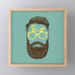 Hipster Biker Framed Mini Art Print