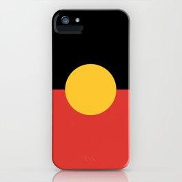 Australian Aboriginal Flag iPhone Case