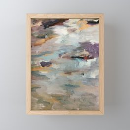 Gentle Beauty [3] - an elegant acrylic piece in deep purple, red, gold, and white Framed Mini Art Print