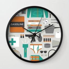 Zombie Survival Kit Wall Clock