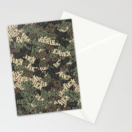 Fuck camo Stationery Cards
