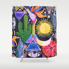 Cactus Sunrise Looking at You Shower Curtain