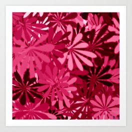 In The Tropics HOT PINK Art Print