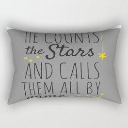 Psalm 147:4 Christian Bible Verse Star Design Rectangular Pillow