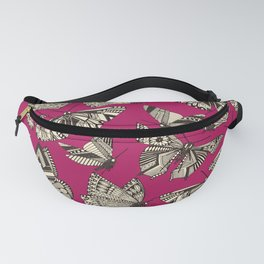 summer butterflies pink Fanny Pack