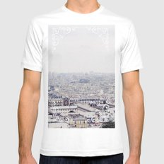 WINTER IN PARIS Mens Fitted Tee White MEDIUM
