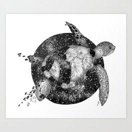 Cosmic Turtle Art Print